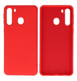 Fashion Color TPU Hoesje Samsung Galaxy A21 Rood