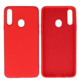 Fashion Color TPU Case Samsung Galaxy A20s Red