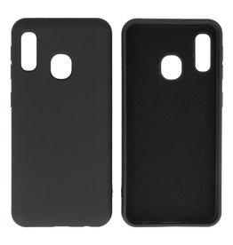 Fashion Color TPU Case Samsung Galaxy A20e Black