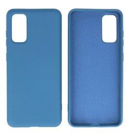 Fashion Color TPU Case Samsung Galaxy S20 Navy