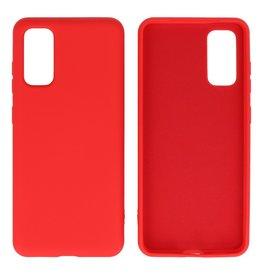 Fashion Color TPU Case Samsung Galaxy S20 Red