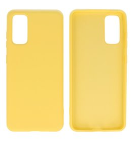 Fashion Color TPU Case Samsung Galaxy S20 Yellow