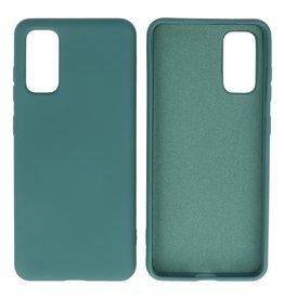 Fashion Color TPU Case Samsung Galaxy S20 Dark Green