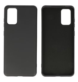 2.0mm Dikke Fashion Color TPU Hoesje Samsung Galaxy S20 Plus Zwart