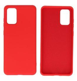 2.0mm Dikke Fashion Color TPU Hoesje Samsung Galaxy S20 Plus Rood