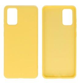 2.0mm Dikke Fashion Color TPU Hoesje Samsung Galaxy S20 Plus Geel