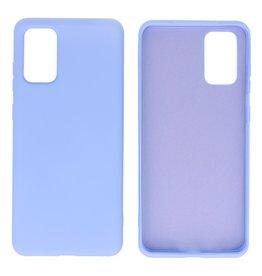 2.0mm Dikke Fashion Color TPU Hoesje Samsung Galaxy S20 Plus Paars