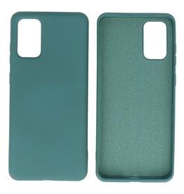2.0mm Dikke Fashion Color TPU Hoesje Samsung Galaxy S20 Plus Donker Groen