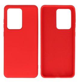 Fashion Color TPU Case Samsung Galaxy S20 Ultra Red
