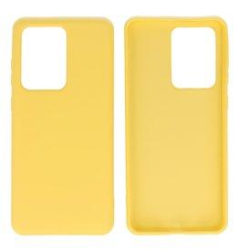 Fashion Color TPU Case Samsung Galaxy S20 Ultra Yellow