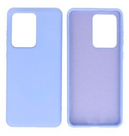 Fashion Color TPU Case Samsung Galaxy S20 Ultra Purple