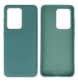 Fashion Color TPU Case Samsung Galaxy S20 Ultra Dark Green