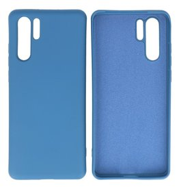 Fashion Color TPU Hoesje Huawei P30 Pro Navy
