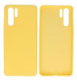 Fashion Color TPU Case Huawei P30 Pro Yellow