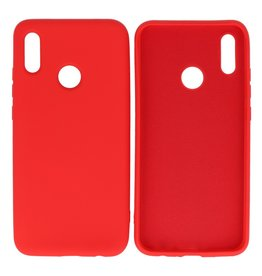 Fashion Color TPU Hoesje Huawei P Smart 2019 Rood