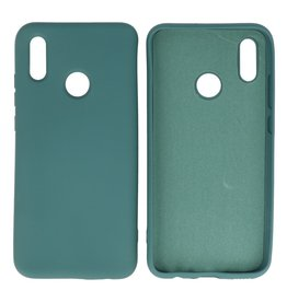 Fashion Color TPU Hoesje Huawei P Smart 2019 Donker Groen