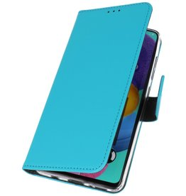 Wallet Cases Cover for Samsung Galaxy A21 Blue