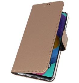 Wallet Cases Hoesje voor Samsung Galaxy A31 Goud
