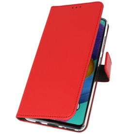 Wallet Cases Cover for Samsung Galaxy A90 Red