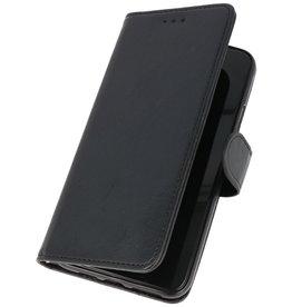 Bookstyle Wallet Cases Hülle für Galaxy A20s Schwarz