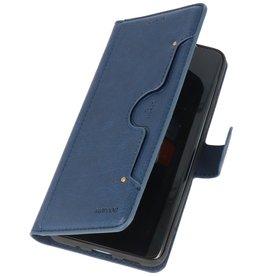 Luxe Portemonnee Hoesje voor iPhone 12 -12 Pro Navy