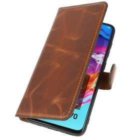 MF Handmade Leather Bookstyle Case Samsung Galaxy A70 Brown