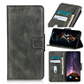 Pull Up PU Leather Bookstyle for Motorola Moto One 5G Dark Green