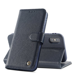 Genuine Leather Case iPhone Xs Max Navy