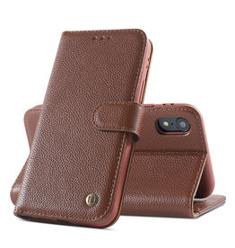 Genuine Leather Case iPhone XR Brown