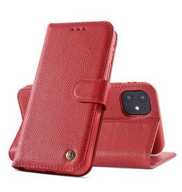 Echt Lederen Hoesje iPhone 11 Rood