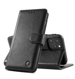 Echte Ledertasche iPhone 12 Pro Max Schwarz