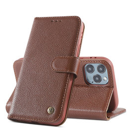 Echte Ledertasche iPhone 12/12 Pro Brown