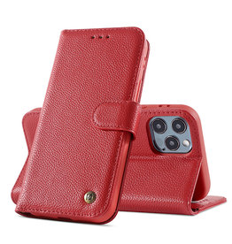 Genuine Leather Case iPhone 12 Pro Max Red