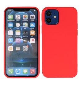 2,0 mm dicke Modefarbe TPU Hülle iPhone 12 Mini Rot