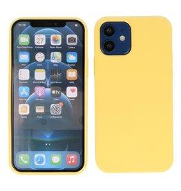 2.0mm Dikke Fashion Color TPU Hoesje iPhone 12 Mini Geel