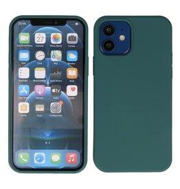2,0 mm dicke Modefarbe TPU Hülle iPhone 12 Mini Dunkelgrün