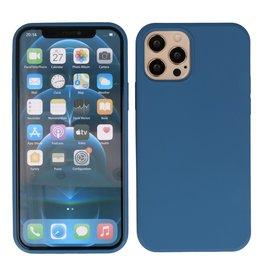 2,0 mm dicke Modefarbe TPU Hülle iPhone 12 - 12 Pro Navy