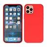 2,0 mm dicke Modefarbe TPU Hülle iPhone 12 - 12 Pro Rot
