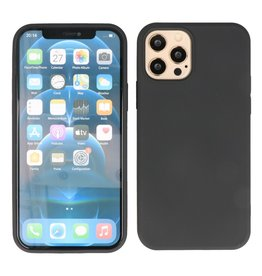 2.0mm Thick Fashion Color TPU Case for iPhone 12 Pro Max Black