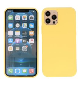 2.0mm Dikke Fashion Color TPU Hoesje iPhone 12 Pro Max Geel