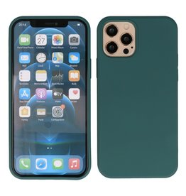 2.0mm Dikke Fashion Color TPU Hoesje iPhone 12 Pro Max Donker Groen