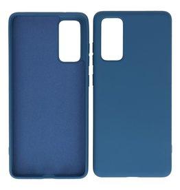 2,0 mm dicke Mode Farbe TPU Fall Samsung Galaxy S20 FE Navy