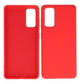 2,0 mm dicke Modefarbe TPU-Hülle Samsung Galaxy S20 FE Rot