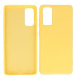 2,0 mm dicke Modefarbe TPU-Hülle Samsung Galaxy S20 FE Gelb