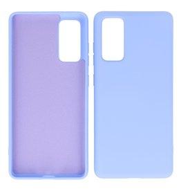 2,0 mm dicke Mode Farbe TPU Fall Samsung Galaxy S20 FE Lila