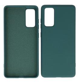 2.0mm Thick Fashion Color TPU Case Samsung Galaxy S20 FE Dark Green