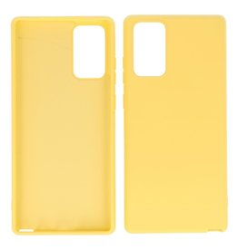 2.0mm Thick Fashion Color TPU Case Samsung Galaxy Note 20 Yellow