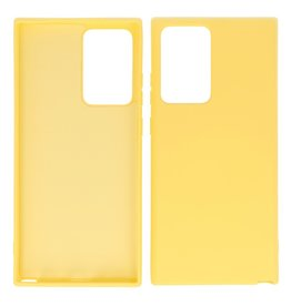 2.0mm Thick Fashion Color TPU Case Samsung Galaxy Note 20 Ultra Yellow