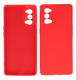 2.0mm Dikke Fashion Color TPU Hoesje Oppo Reno 4 Pro 5G Rood
