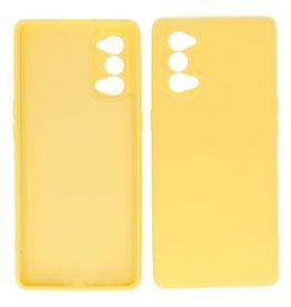 2.0mm Thick Fashion Color TPU Case Oppo Reno 4 Pro 5G Yellow